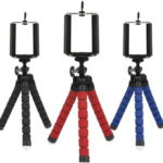 Mini Octopus Tripod Stand Holder for Phone With Phone Clip Mount