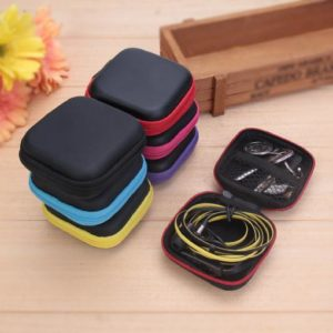 1Pcs EVA Storage Case For Earphone EVA Headphone Case Bag Container Cable Earbuds Storage Box Pouch Bag Holder Drop Shipping