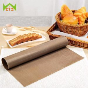 WCIC Teflon Sheet Reusable Resistant Baking Mat Grill Liner Oil-proof Paper Baking Oven Tool Non-stick for BBQ