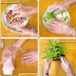 100Pcs/Set Eco-friendly Disposable Gloves For Restaurant Hotel Handling Raw Chicken Multifuctional Food Plastic Gloves