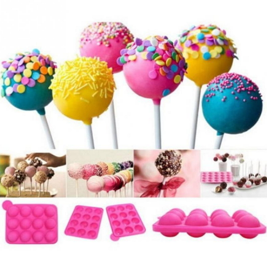 1 Pc Eco-Friendly Silicone Perfect cake pop mold cupcake lollipop mold sticks baking tray stick tool