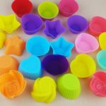 10pcs Silicone Mold Heart Cupcake Soap Silicone Cake Mold Muffin Baking Mold Tools Bakery Pastry Tools Bakeware Kitchen
