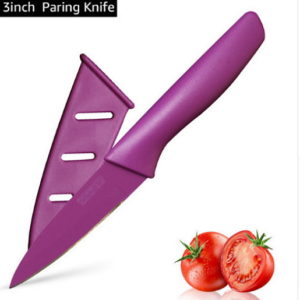 """High quality stainless steel 3.5"""" Color-Coded paring Utility knife Chef Non-Stick"""