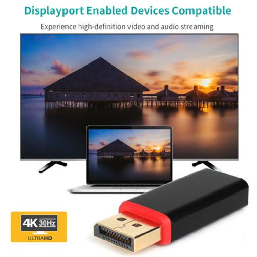 4K Display Port DP to HDMI Male to Female Adapter Converter Displayport DP to HDMI Adapter Ultra HD Resolution for HDTV PC