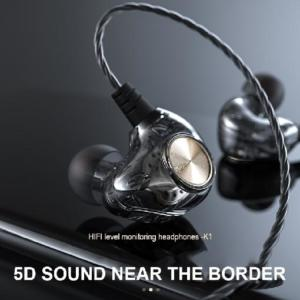 K1 Transparent In-Ear Wired Earphone Subwoofer Stereo Bass Earbuds Sport Headset With Mic for iPhone Xiaomi AT
